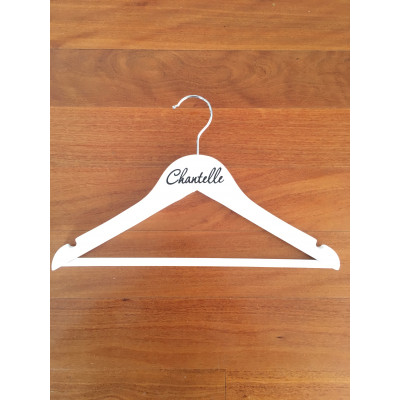 Child's White Coat Hangers