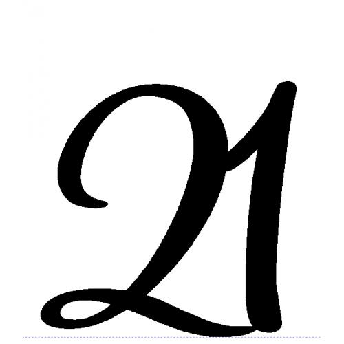 2 Letter or Number Cake Topper