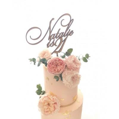 2 Line Cake Topper