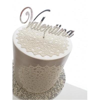 1 Line Cake Topper