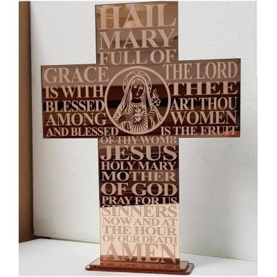 Religious Prayer Engraved + Image Cross
