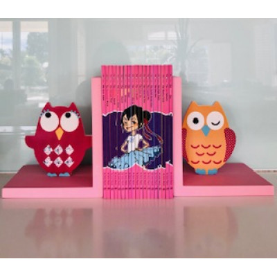 Bookends Pink Owl