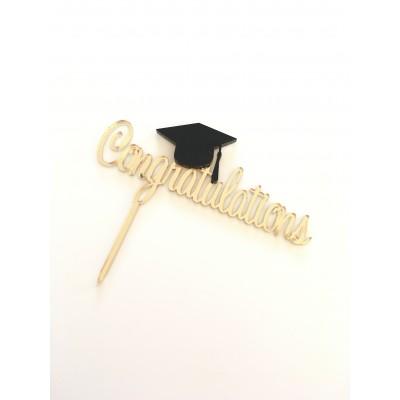 3D Graduation congratulation Cake Topper
