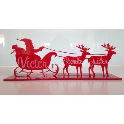 Santa Sleigh + Reindeers